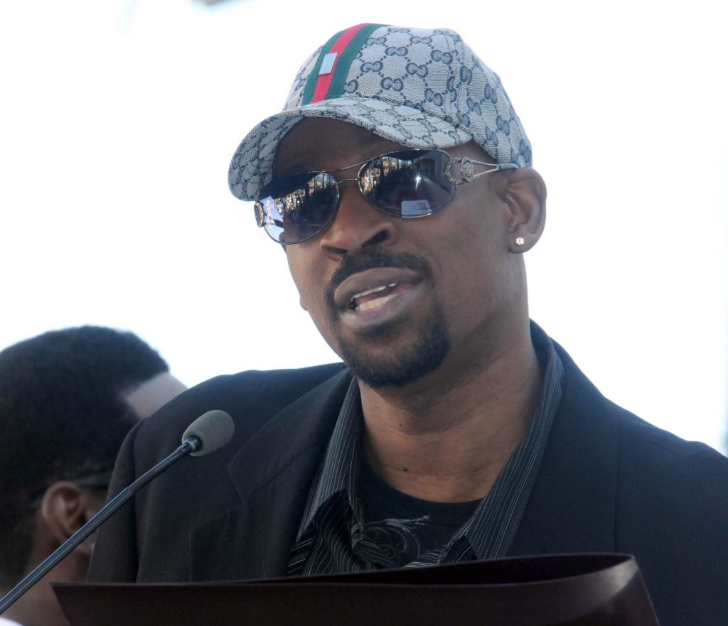 Michael McCary at the Boyz II Men Hollywood Walk Of Fame ceremony