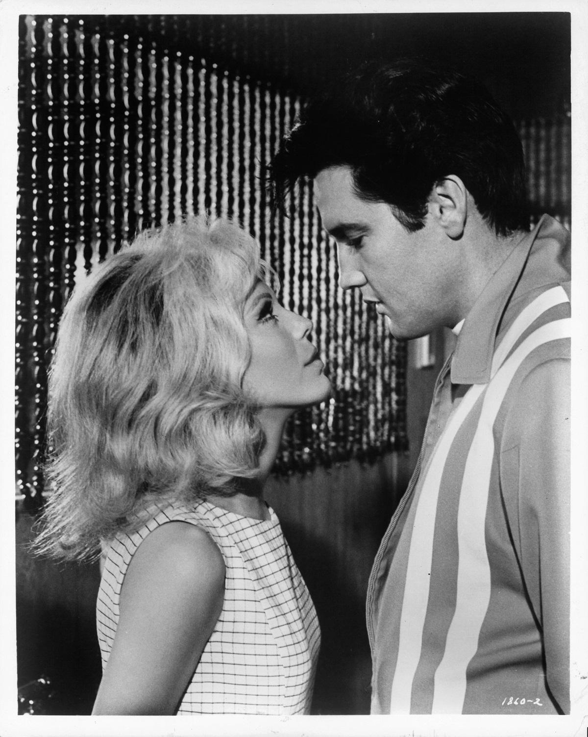 Nancy Sinatra and Elvis Presley in 'Speedway'
