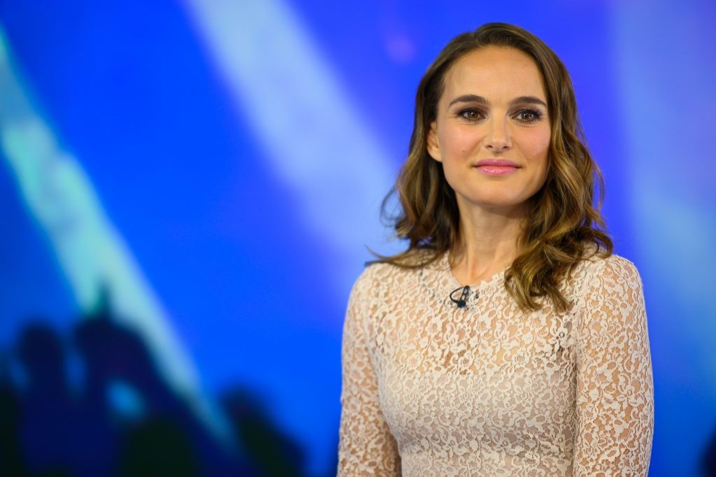Natalie Portman looks on during a taping of the 'Today' show