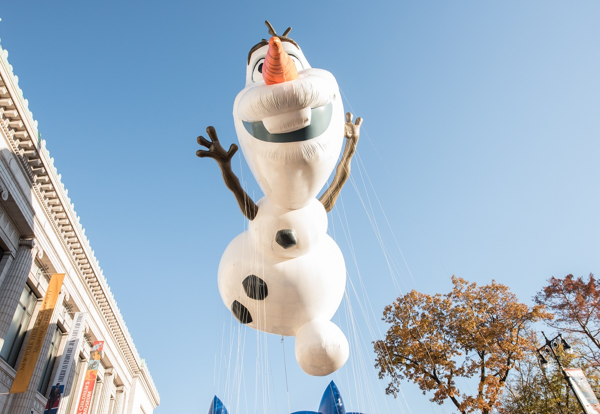 The Olaf balloon at the 91st Annual Macy's Thanksgiving Day Parade