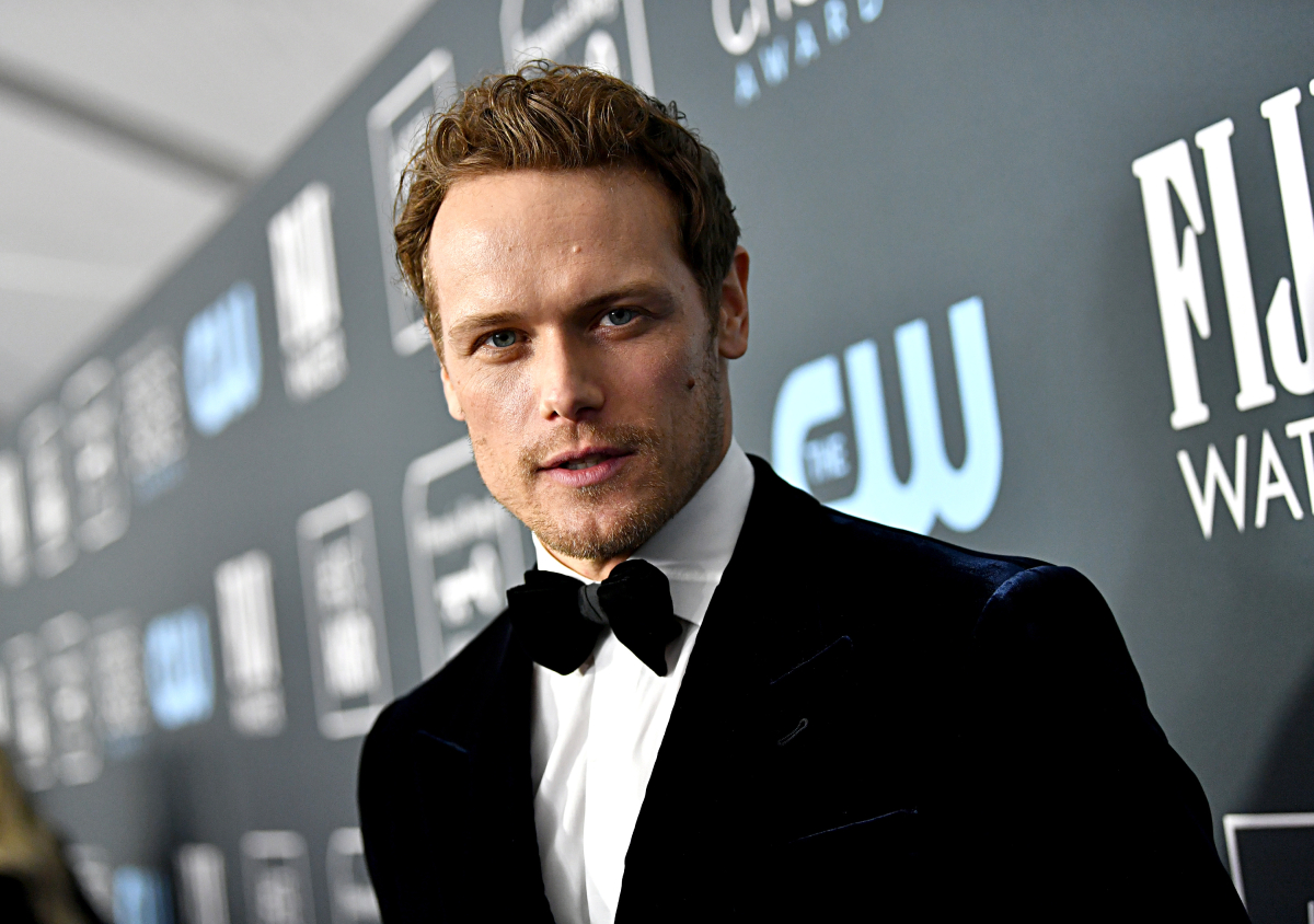 Sam Heughan attends the 25th Annual Critics' Choice Awards at Barker Hangar on January 12, 2020