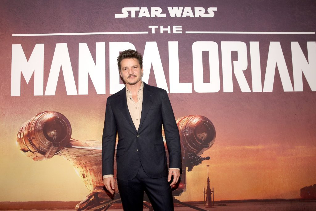 Pedro Pascal arrives at the premiere of 'The Mandalorian.'