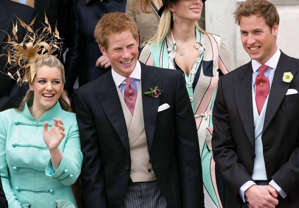 Prince William, Prince Harry, and Laura Lopes (nee Parker Bowles)