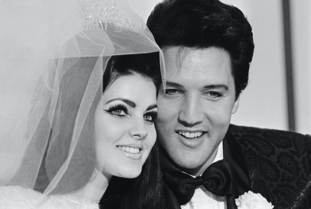 Singer Elvis Presley and his bride Priscilla Ann Beaulieu