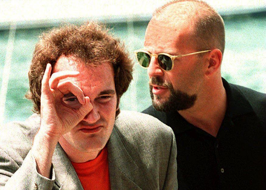 Quentin Tarantino and Bruce Willis