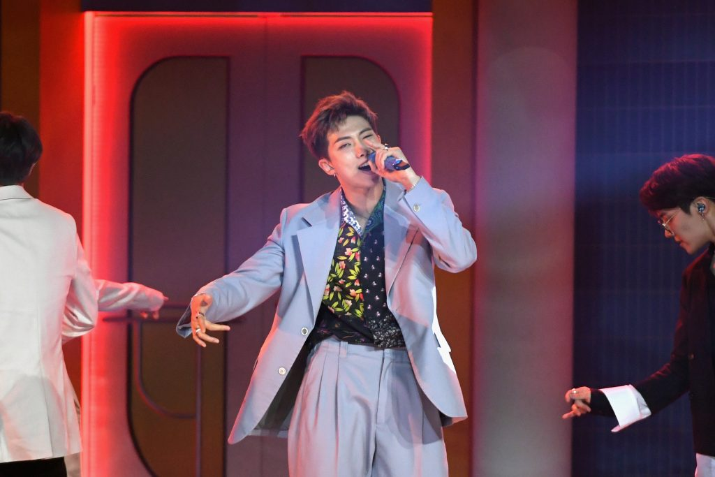RM of BTS performs onstage during the 2019 Billboard Music Awards