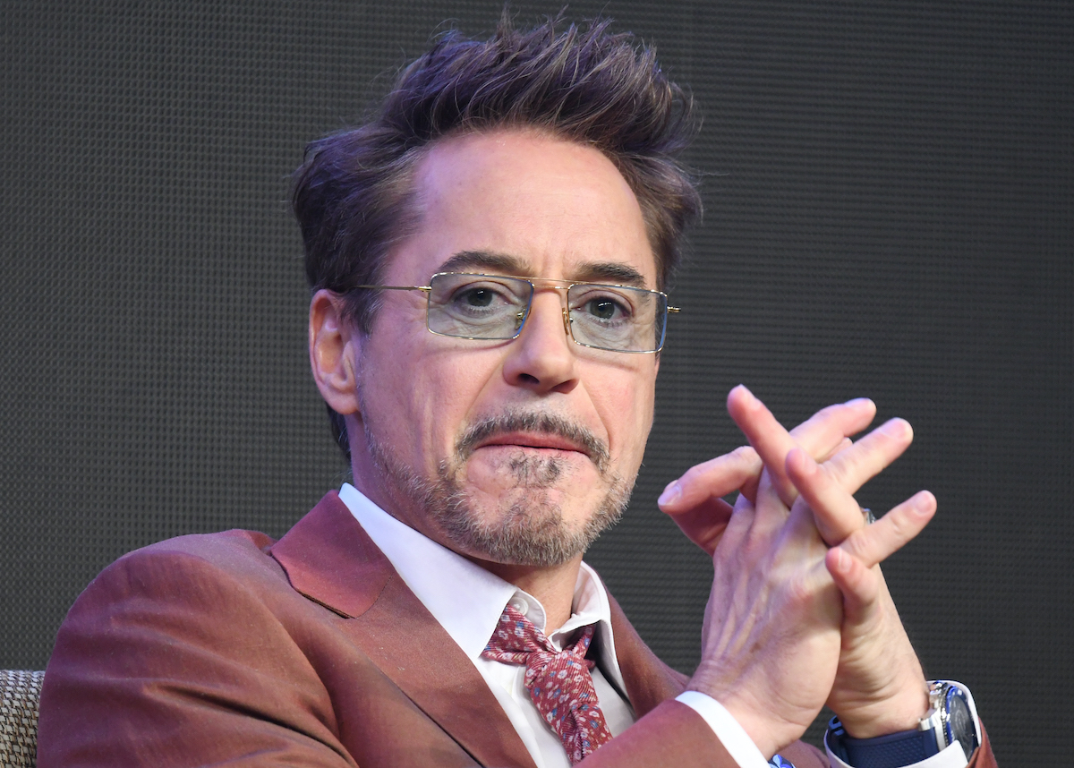 Robert Downey Jr. at a press conference for 'Avengers: Endgame'