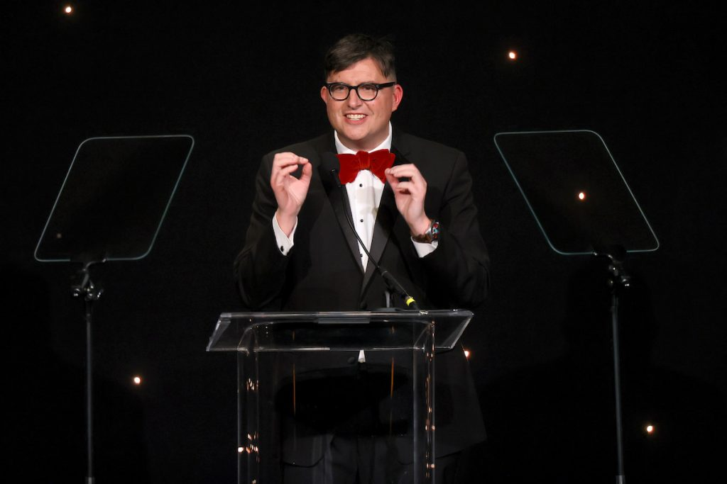 'Riverdale' creator Roberto Aguirre-Sacasa, who's now working on a 'True Blood' reboot, speaks onstage during the 23rd Annual NHMC Impact Awards Gala at the Beverly Wilshire Four Seasons Hotel on February 28, 2020, in Beverly Hills, California.