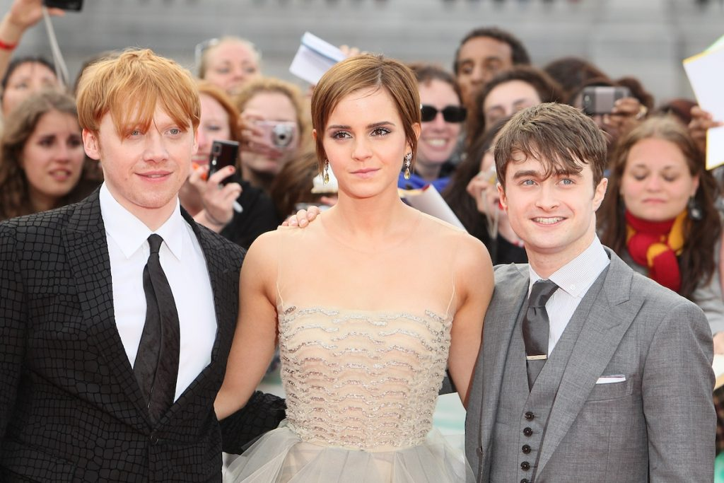 Rupert Grint, Emma Watson and Daniel Radcliffe at the world premiere of 'Harry Potter And The Deathly Hallows: Part 2'