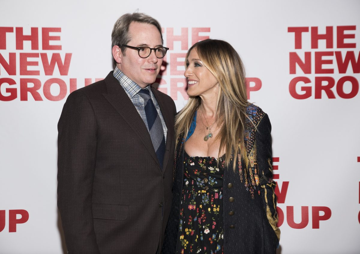 Matthew Broderick and Sarah Jessica Parker attend the opening night of 'Evening at the Talk House'