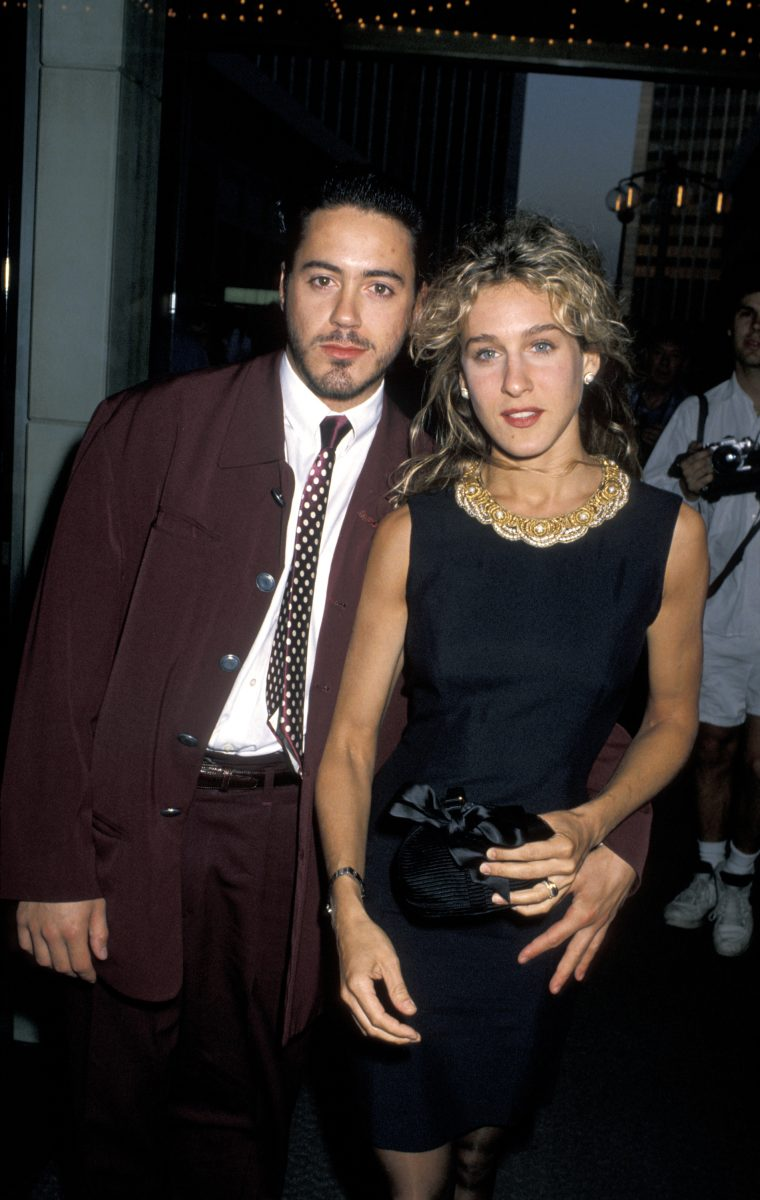 Robert Downey Jr. and Sarah Jessica Parker attend the ABC Annual Fall Affiliates Dinner in 1990