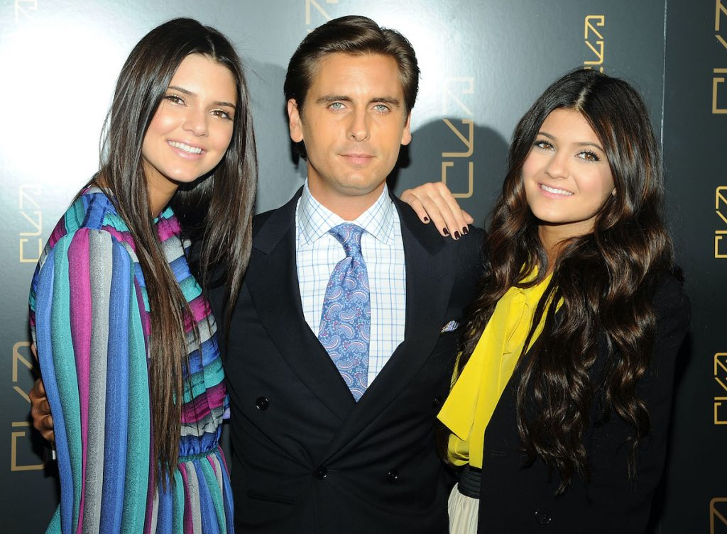 Scott Disick with Kendall and Kylie Jenner