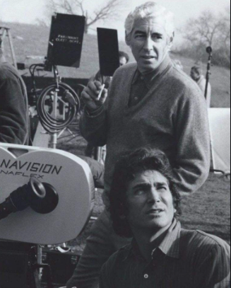 Ed Friendly (standing) and Michael Landon