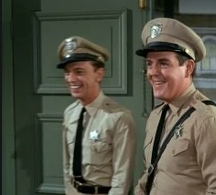 Jack Burns (right) as Warren Ferguson with Don Knotts as Barney Fife on 'The Andy Griffith Show'
