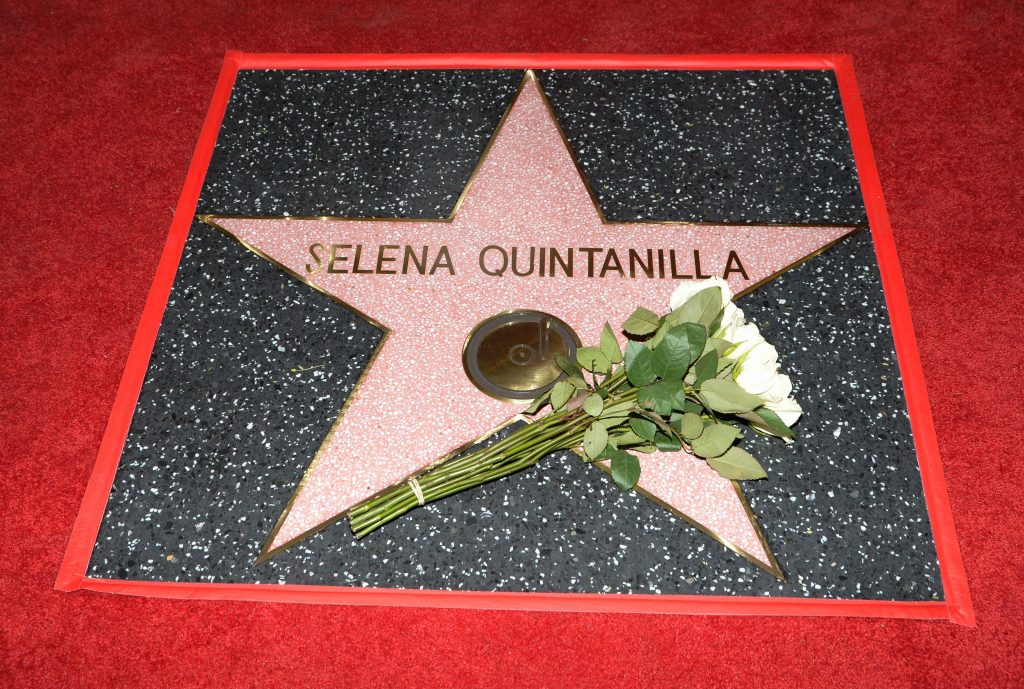 Selena Quintanilla honored posthumously with a star on the Hollywood Walk of Fame in 2017