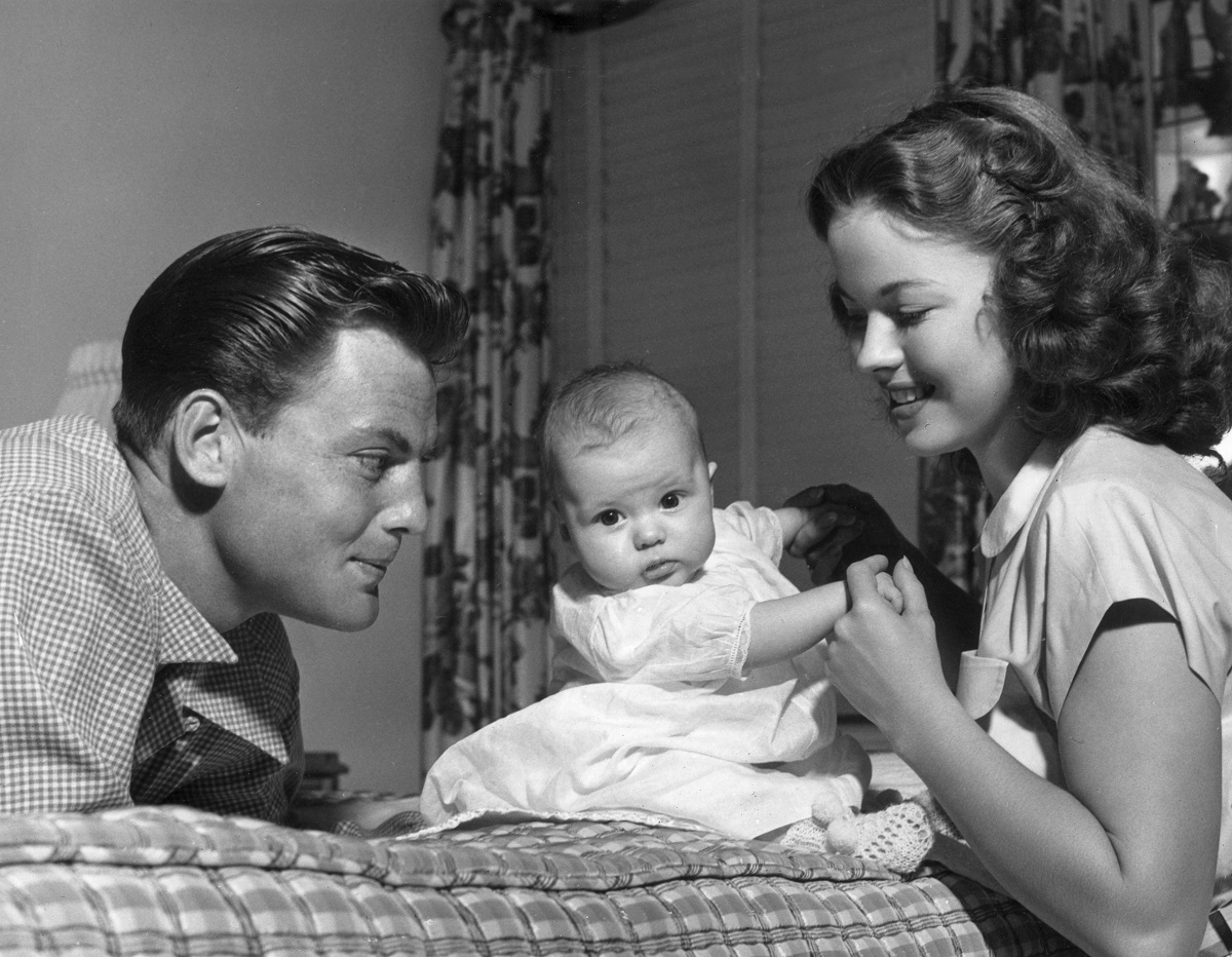 Shirley Temple, John Agar, and Linda Susan Agar in 1948