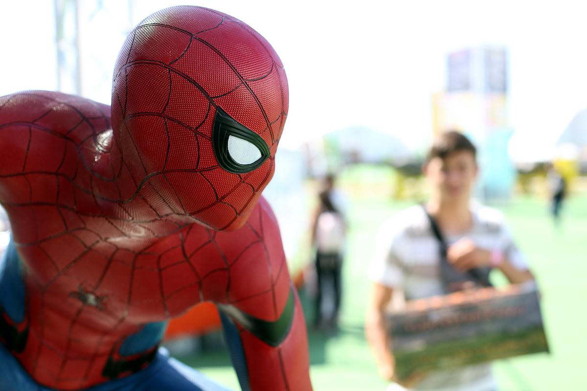 A Spider-Man figure at Comic-Con Portugal 2019