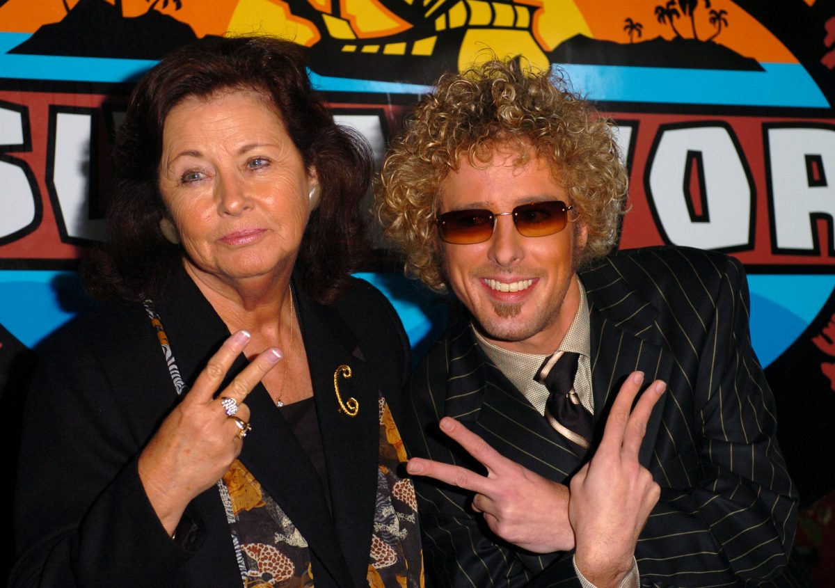 Jonny Fairplay (right) and grandmother Jean Cook at 'Survivor' finale