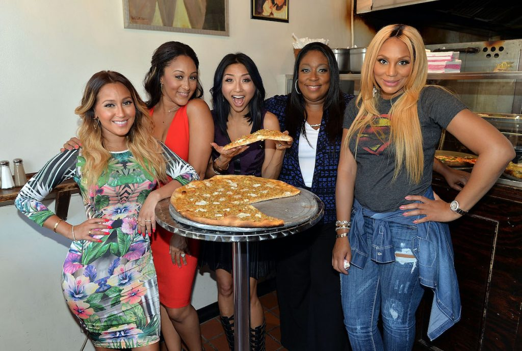 Tamar Braxton with the hosts of 'The Real'