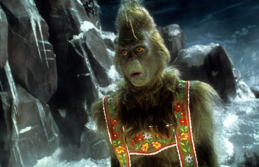 Jim Carey in a scene from 'How The Grinch Stole Christmas'