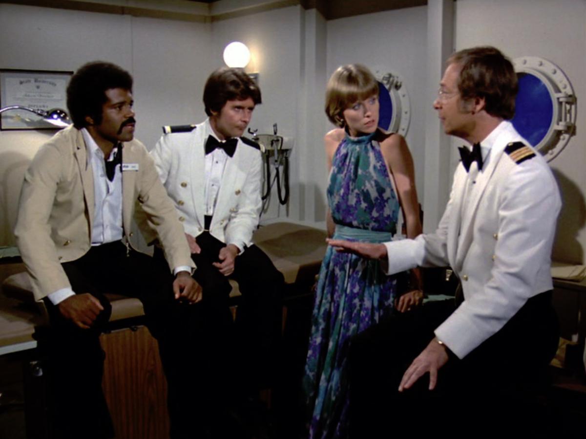 Ted Lange, Fred Grandy, Lauren Tewes, and Bernie Kopell