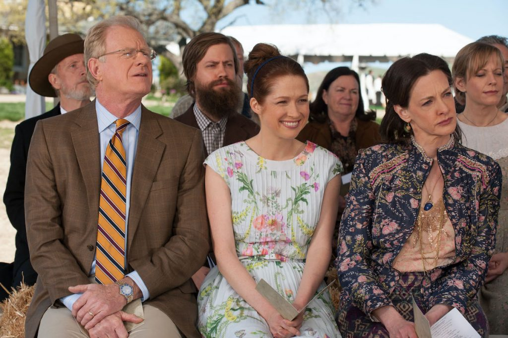 Ed Begley Jr. as Martin, Ellie Kemper as Erin Hannon, Joan Cusack as Fran