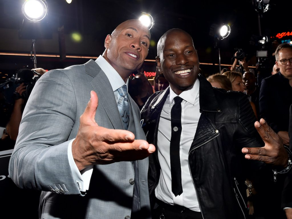 Dwayne 'The Rock' Johnson and Tyrese