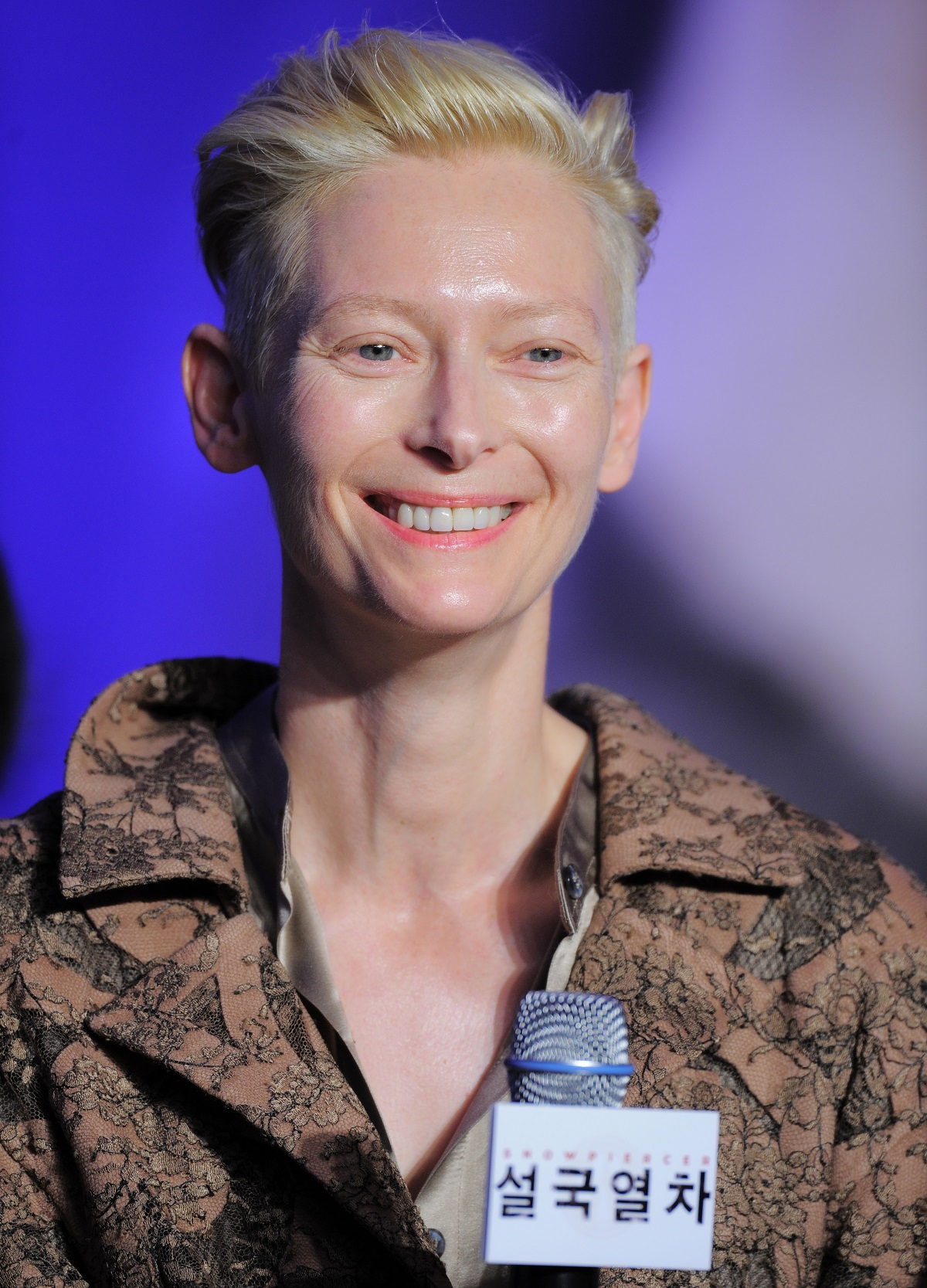 Tilda Swinton at the 'Snowpiercer' press conference in 2013