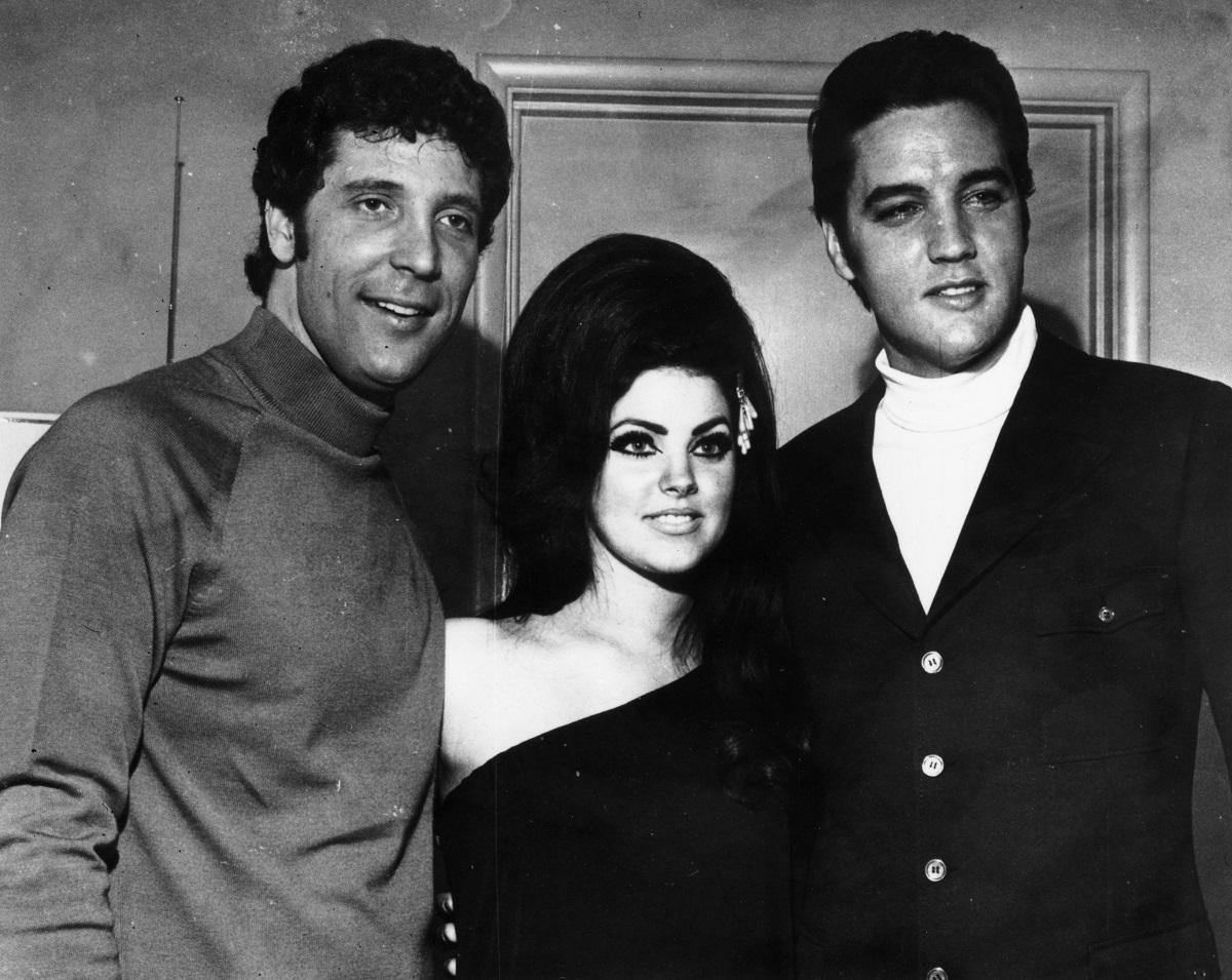 Tom Jones, Priscilla Presley, and Elvis Presley