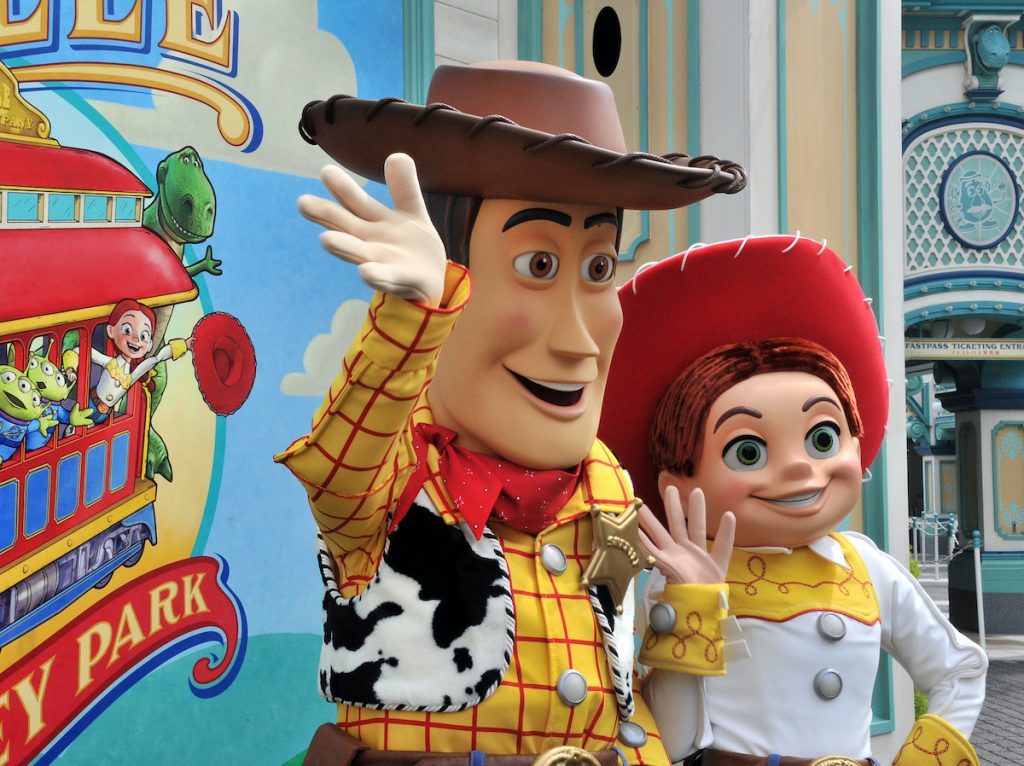 Toy Story characters Woody and Jessie