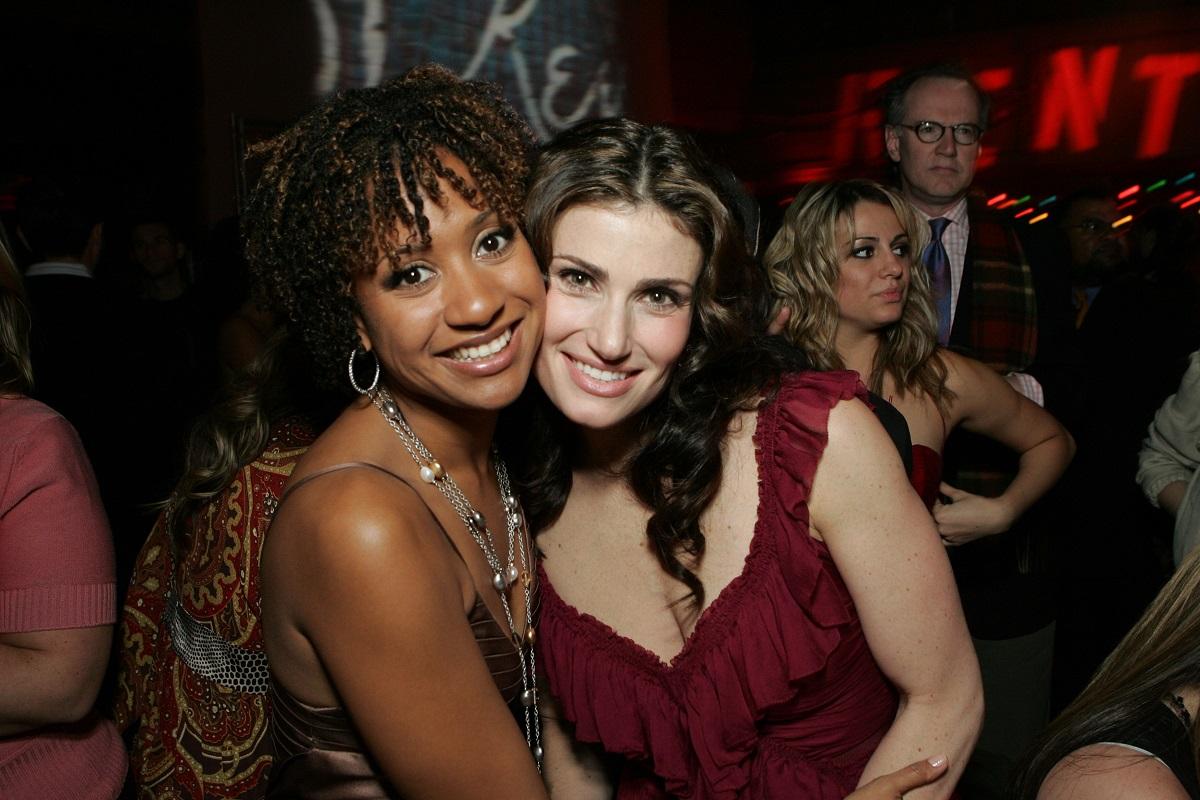 Tracie Thoms and Idina Menzel
