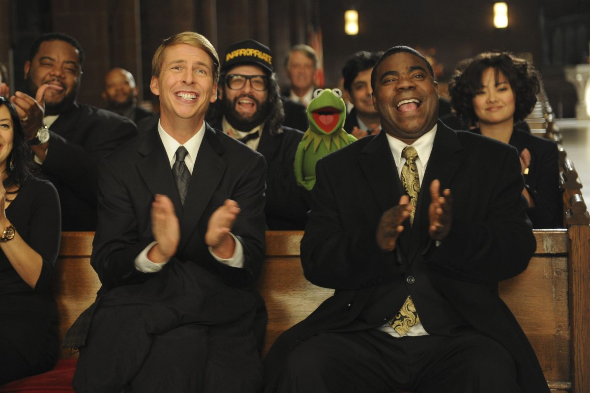 Jack McBrayer as Kenneth Parcell and Tracy Morgan as Tracy Jordan