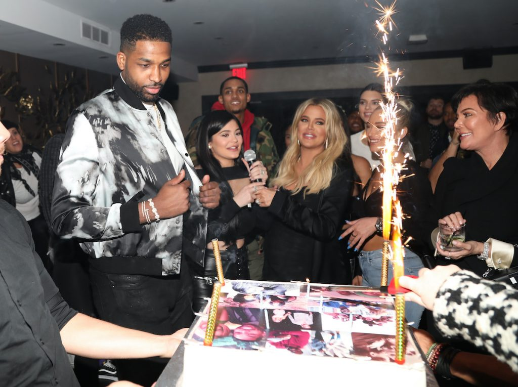 Tristan Thompson out with the Kardashian-Jenner family