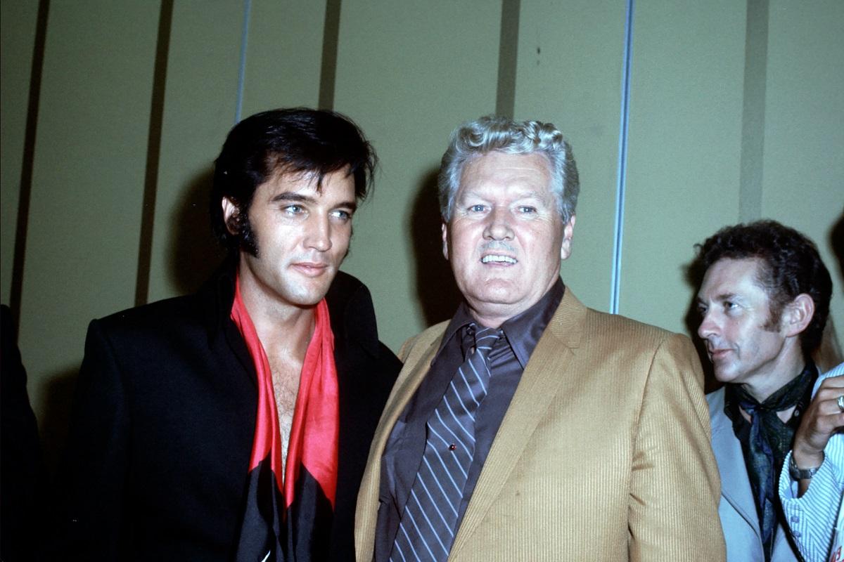 Elvis and Vernon Presley in 1969