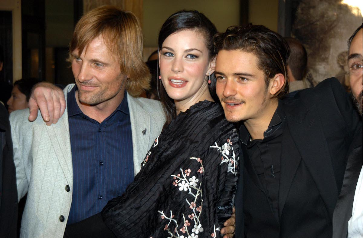 Viggo Mortensen, Liv Tyler, and Orlando Bloom at the premiere of 'The Lord of the Rings: The Two Towers'