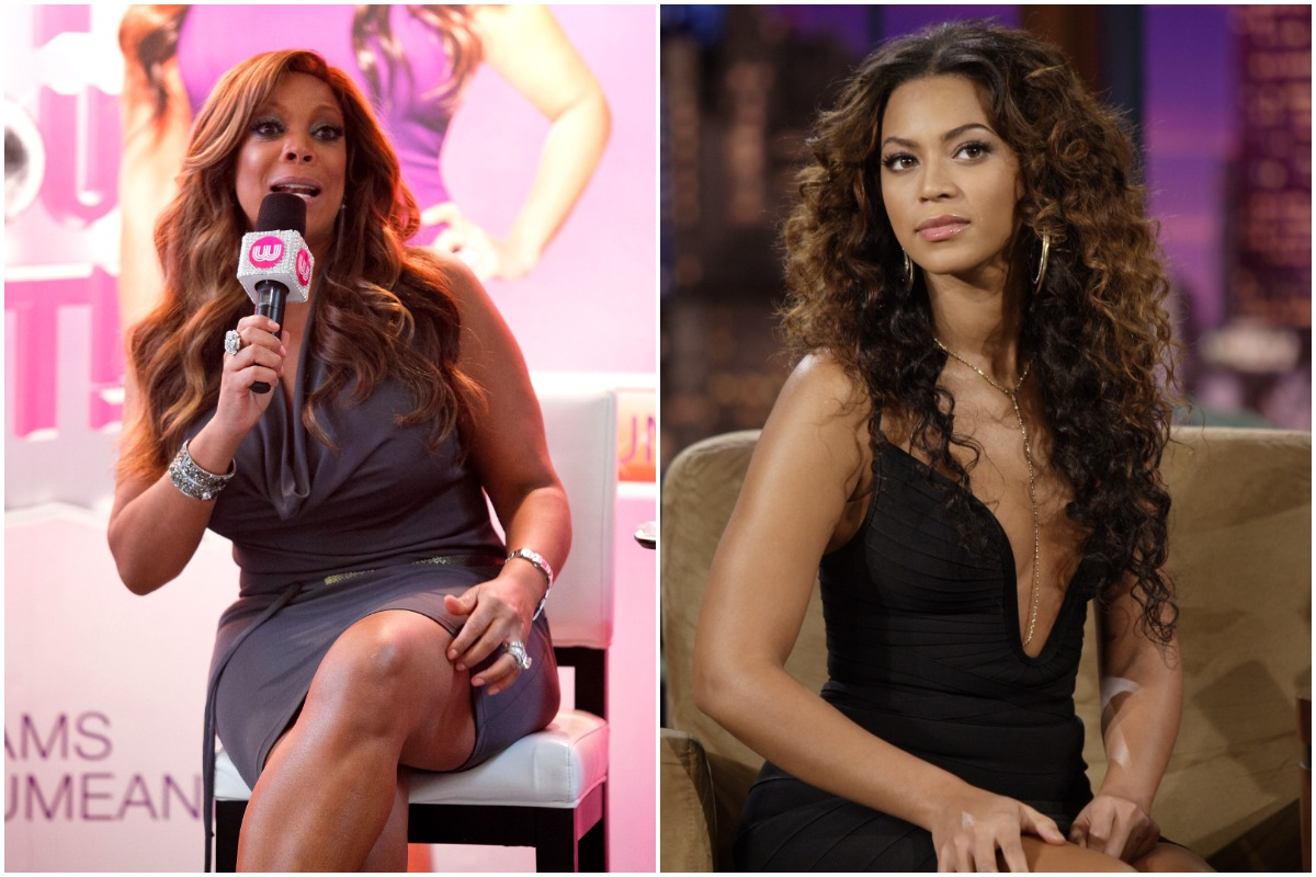 TV personality Wendy Williams hosts The Wendy Williams Show at The Beverly Center on August 30, 2011 in Los Angeles, California./THE TONIGHT SHOW WITH JAY LENO -- Episode 3310 -- Pictured: Singer and Sports Illustrated Cover Model Beyonce Knowles during an interview with host Jay Leno on February 14, 2007