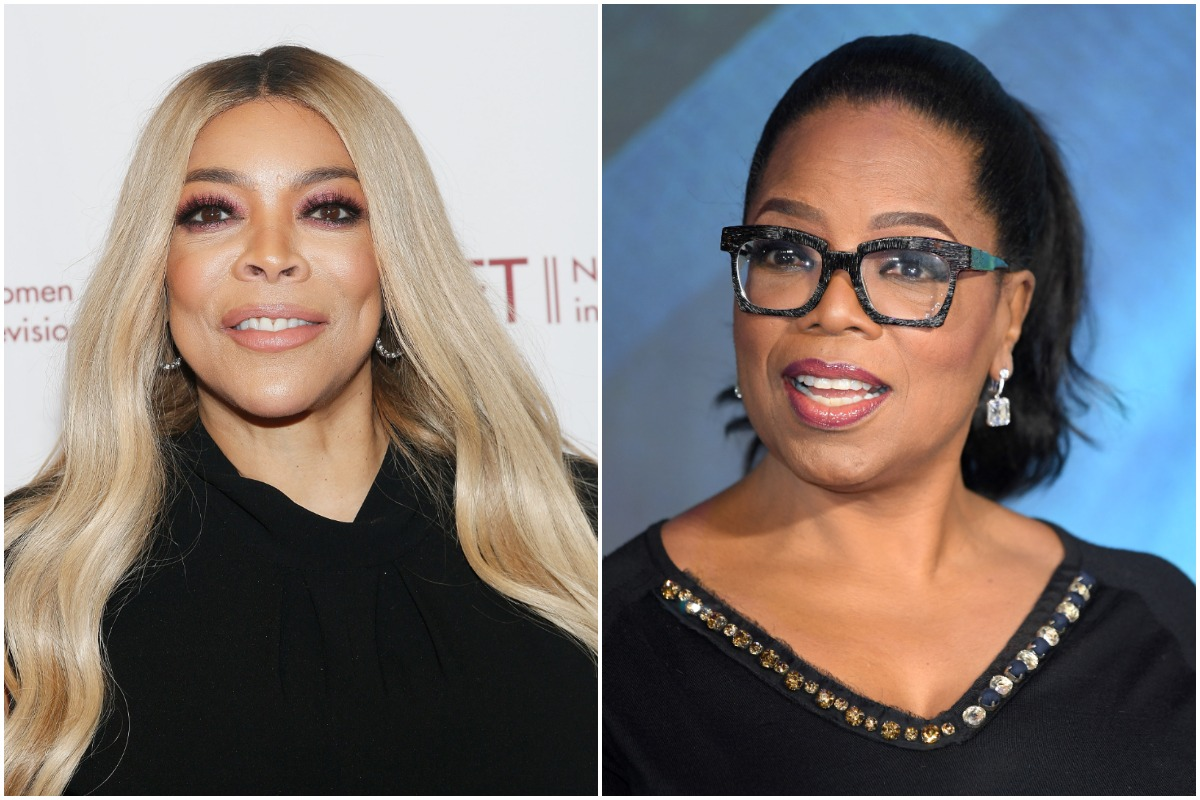 TV personality Wendy Williams attends the 2019 NYWIFT Muse Awards at the New York Hilton Midtown on December 10, 2019 in New York City./Oprah Winfrey attends the European Premiere of 'A Wrinkle In Time' at BFI IMAX on March 13, 2018 in London, England.
