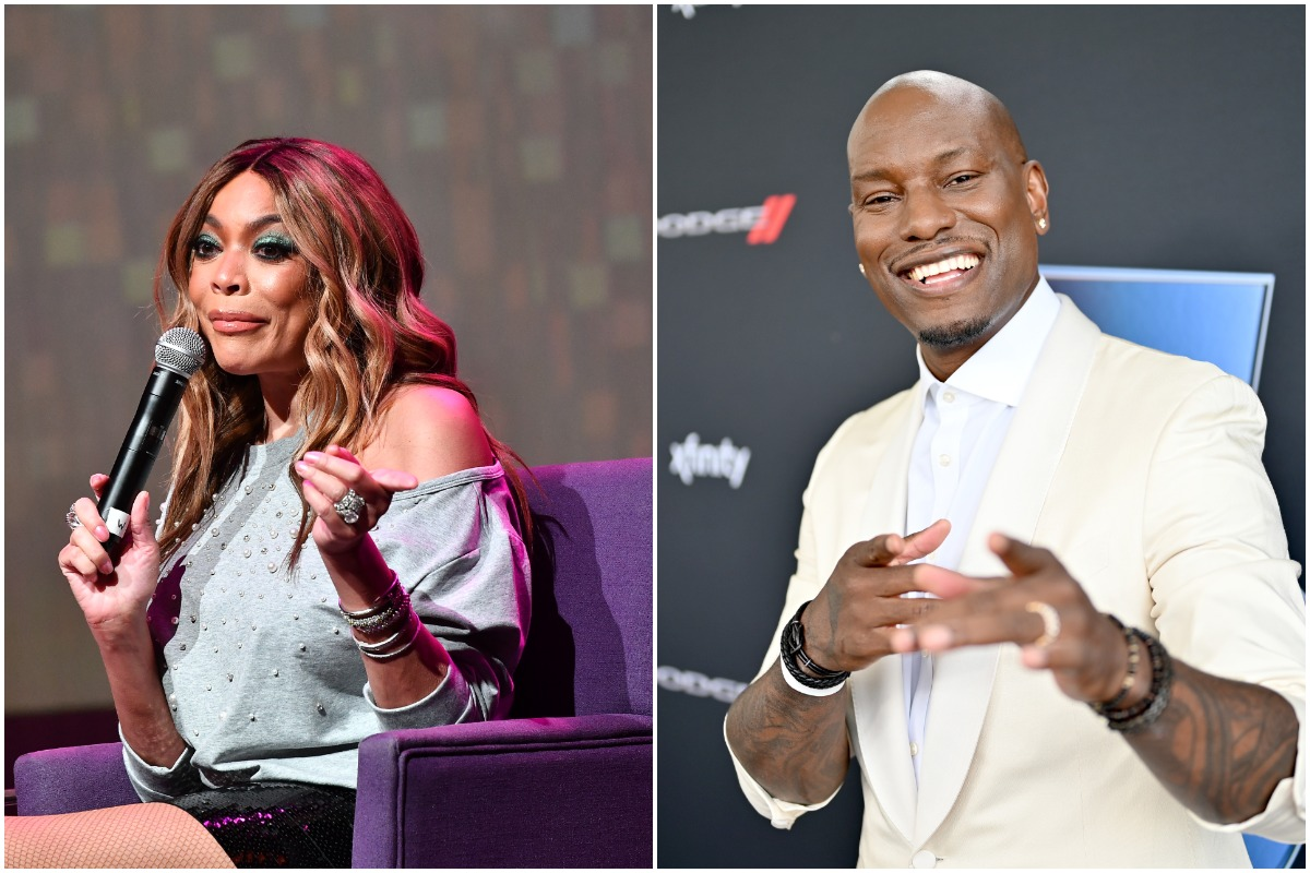 elevision personality Wendy Williams speaks onstage during her celebration of 10 years of 'The Wendy Williams Show' at The Buckhead Theatre on August 16, 2018 in Atlanta, Georgia./Tyrese Gibson attends Universal Pictures Presents The Road To F9 Concert and Trailer Drop on January 31, 2020 in Miami, Florida.