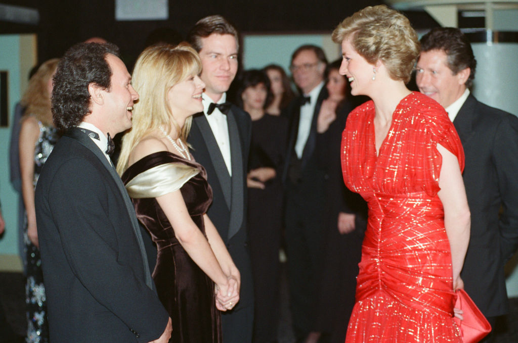 Princess Diana, attends the Premiere of When Harry met Sally