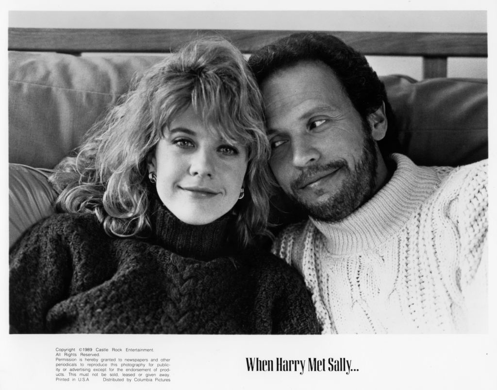 Meg Ryan and Billy Crystal pose for the movie When Harry Met Sally