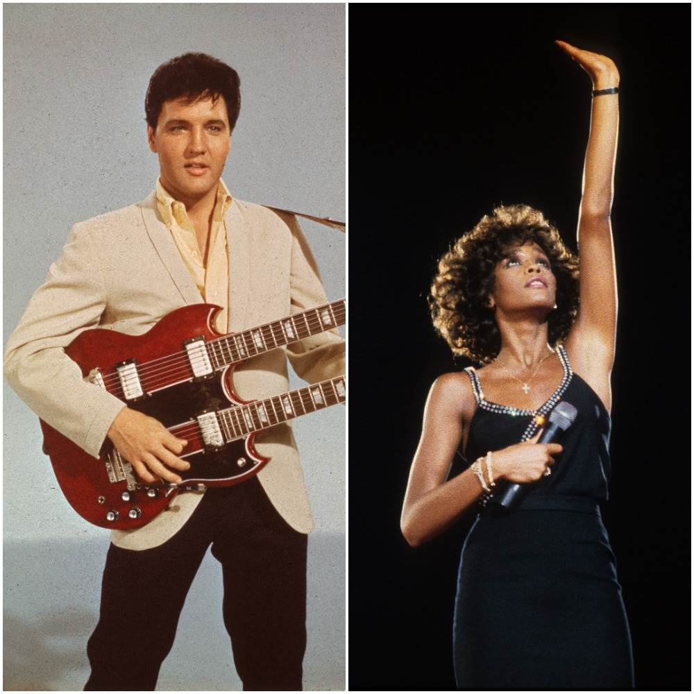 Elvis Presley; Whitney Houston