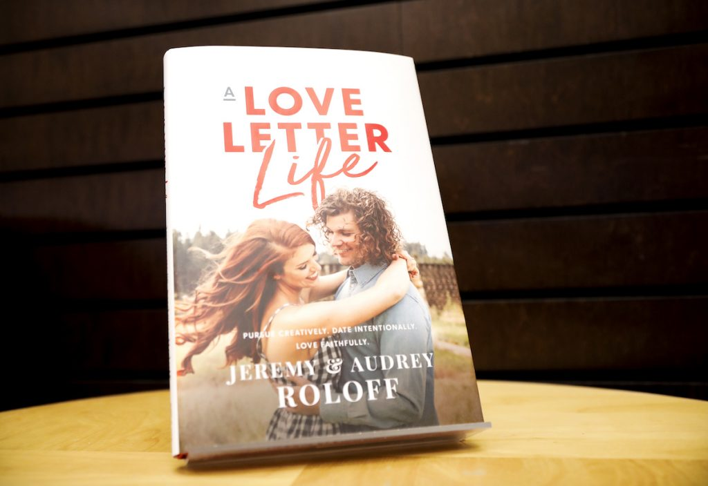 A Love Letter Life book on display