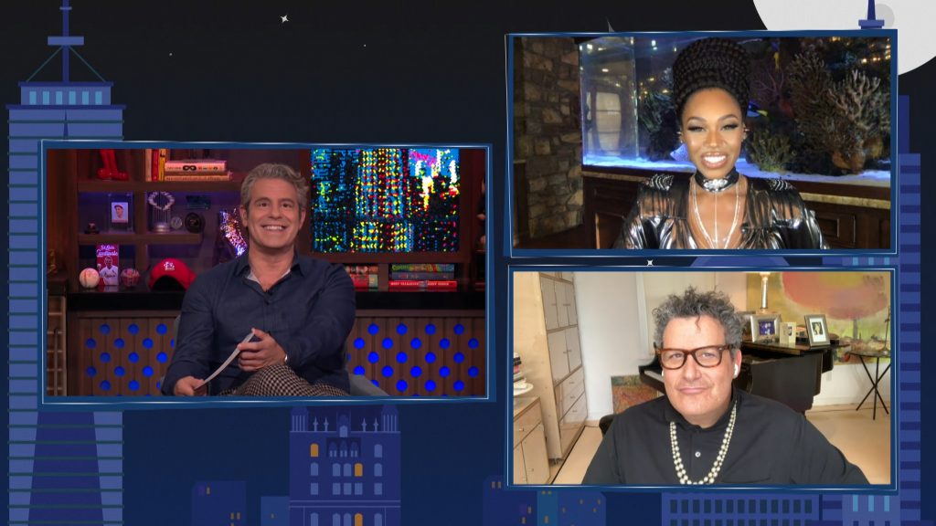 Andy Cohen, Isaac Mizrahi, and Monique Samuels on 'Watch What Happens Live'
