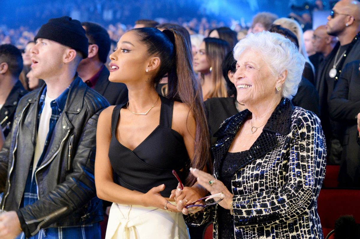 Ariana Grande (L) and Marjorie 'Nonna' Grande attend the 2016 American Music Awards on November 20, 2016, in Los Angeles, California.