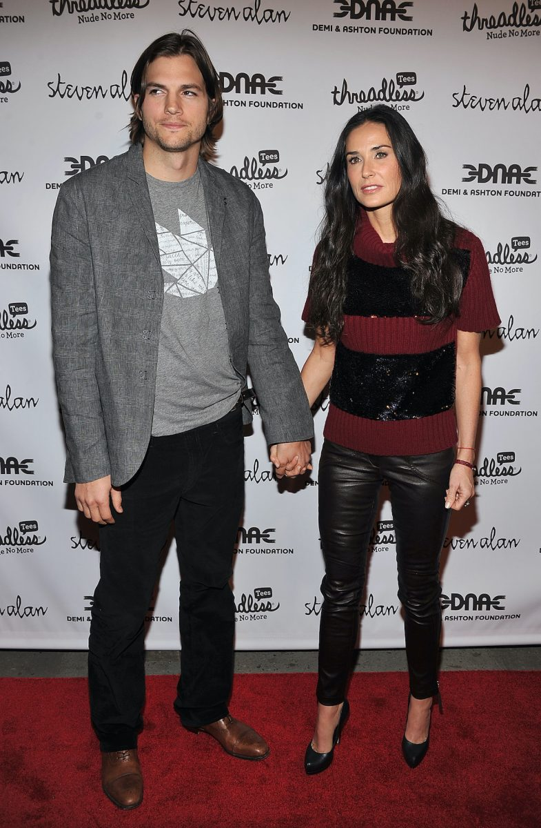Ashton Kutcher and Demi Moore attend the launch party for 'Real Men Don't Buy Girls'