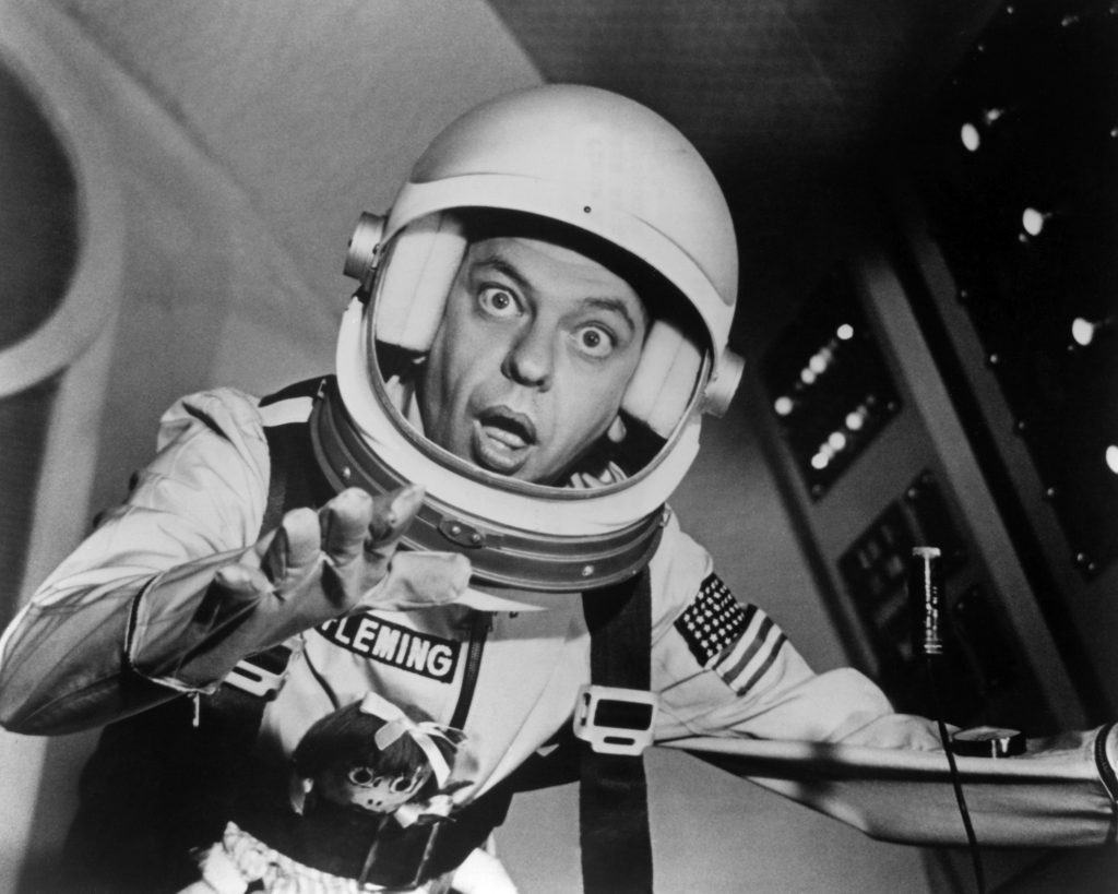 Don Knotts dressed as an astronaut