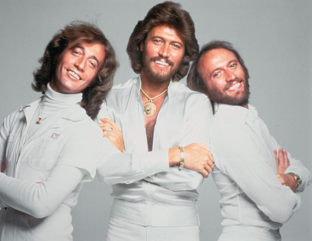 The Bee Gees in white