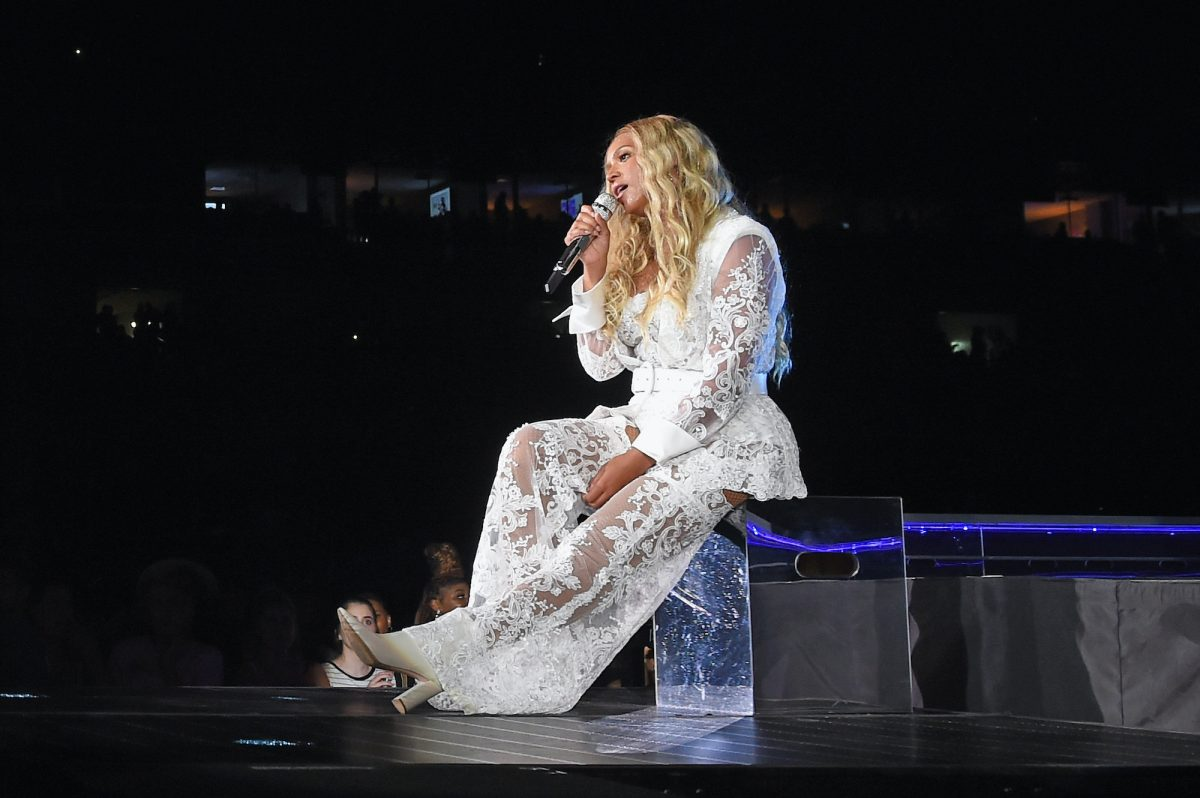 Beyoncé performs on stage