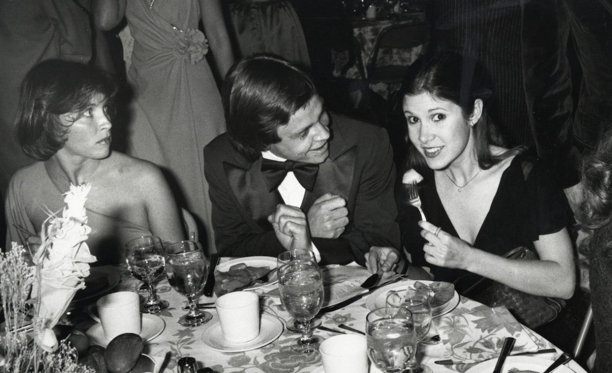 Marylou York, Mark Hamill and Carrie Fisher during American Film Institute 10th Anniversary at Kennedy Center in Washington DC, Maryland, United States
