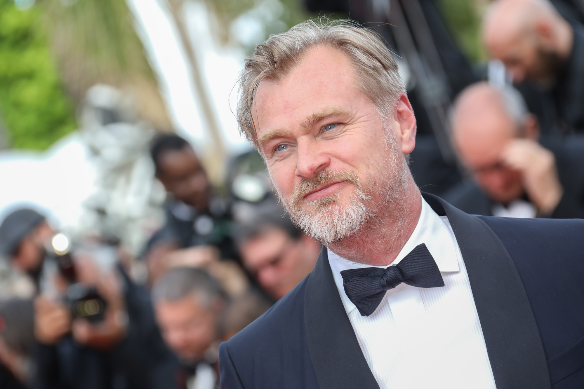 Christopher Nolan at the screening of 'Sink Or Swim (Le Grand Bain)' during the 71st annual Cannes Film Festival at Palais des Festivals on May 13, 2018
